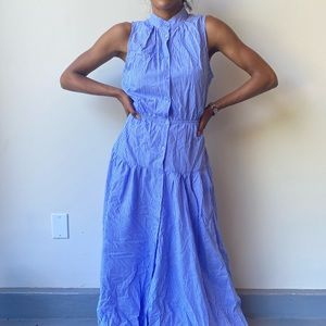 Who What Wear Maxi Blue Dress